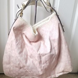 Authentic Gucci Large Pink Shoulder Bag